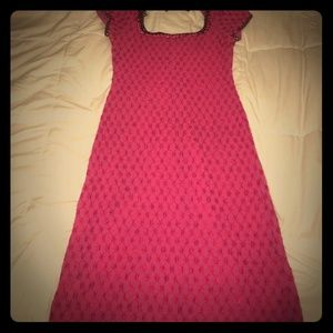 Authentic vintage Betsy Johnson dress pink/red